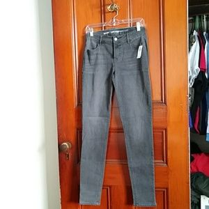 NWT Old Navy 6 Super Skinny Mid-Rise Gray Jeans